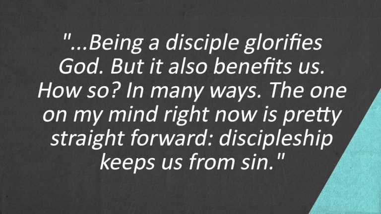 Lessons Learned From the Discipleship Course