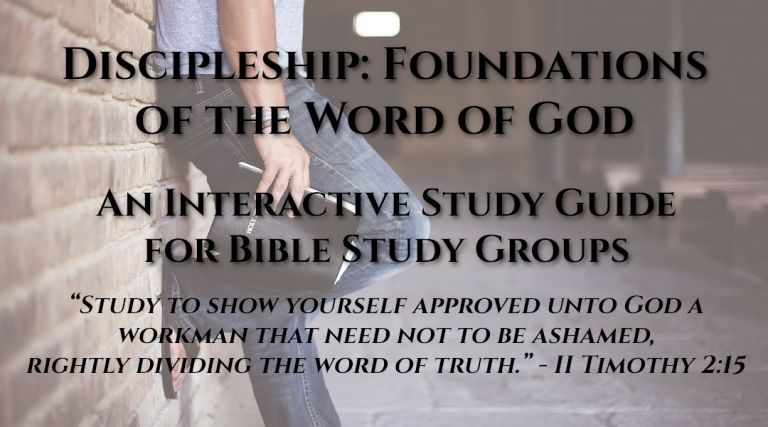 Free Discipleship Study Guide